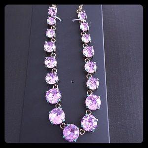 Baublebar purple Camryn glass necklace. NWT
